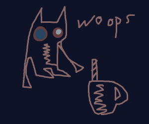 clumsy werewolf has broken mother's cup