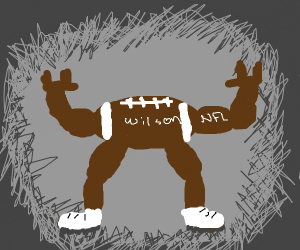 anthropomorphic football with no face