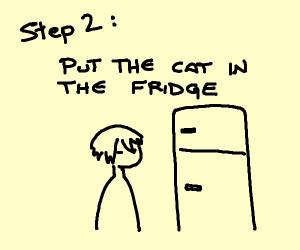 Step 1: Lick a cat