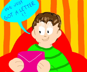 guy from blue's clues gets a letter