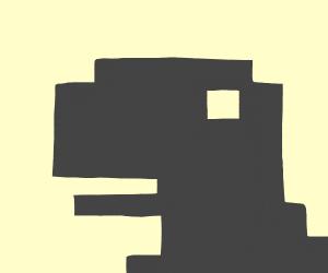 Pixelated Dinosaur