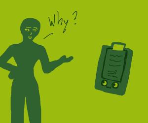 a person questions their Clipboard