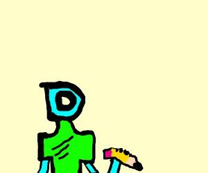 drawception guy pokes you with a pencil