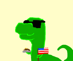 BIG U.S.A Nationalist dino w/pancakes