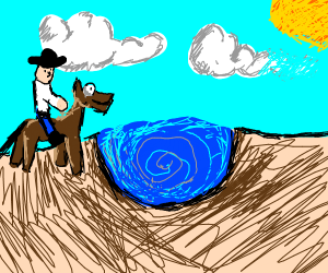 Cowboy water whirlpool in the Earth