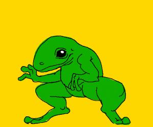 frog alien human thing