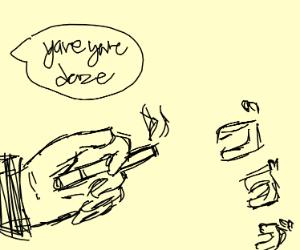 Menacing cigarette