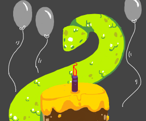 snakes birthday! there's cake!!
