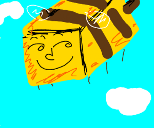 minecraft bee with a lenny face