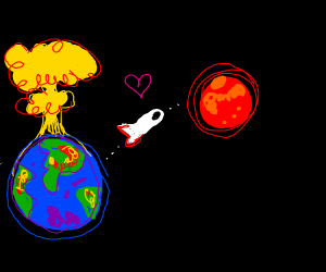 passing love from one ded planet to live one