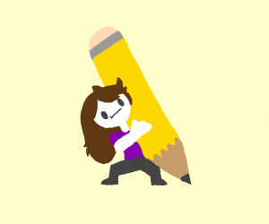 Jaiden Animations has a giant pencil