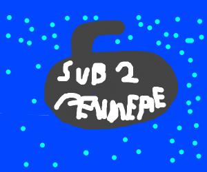 sub(marine) to pewdiepie (in ocean)