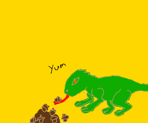 lizard licking nuts