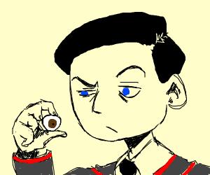 Man stares at gouged eye