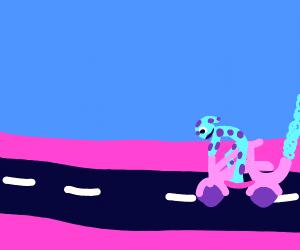 Cool doggo on motorbike