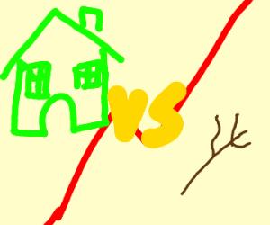 Green house VS stick