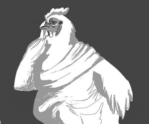 chicken but a depressed greek philoshopher