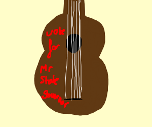 Guitar for state governer  campaign
