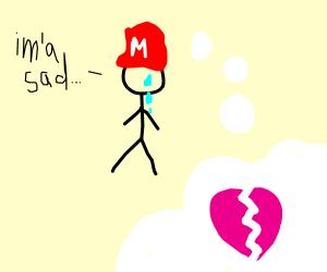 Heartbroken Mario