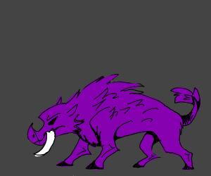 purple demon boar