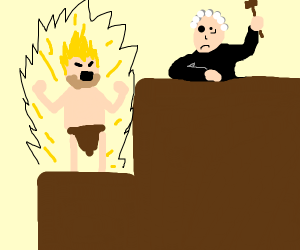Unfrozen Caveman Lawyer goes Super Saiyan