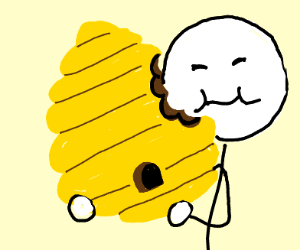 Eating a beehive