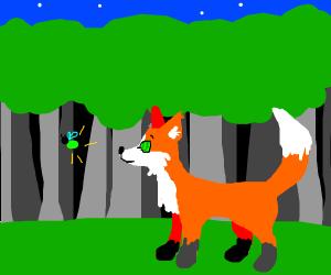 Fox being hypnotized