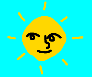 The Sun is Lennyface