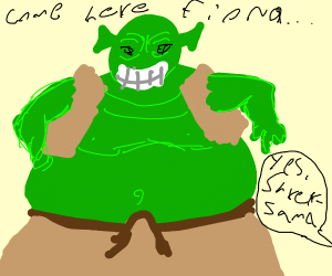 Shrek but fat