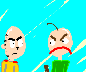 one punch man getting mad at baldi