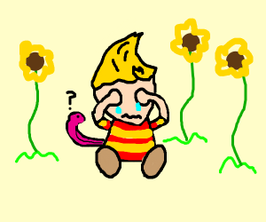 Lucas (Mother 3) Crying in Sunflowers