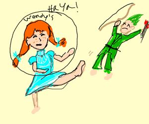 Wendy defeats archer with kung fu