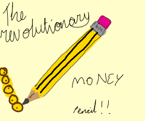 Pencil with Money