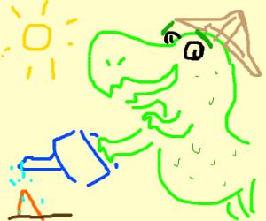 Dinosaur grows random spike