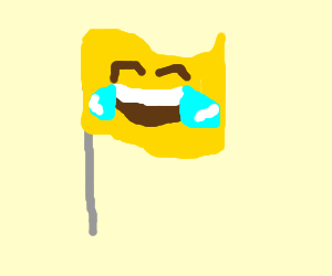 The national flag of Emojistan