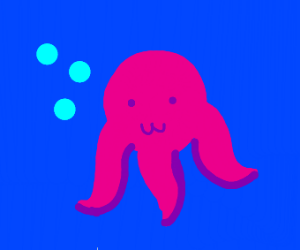 Octopus with three tentacles