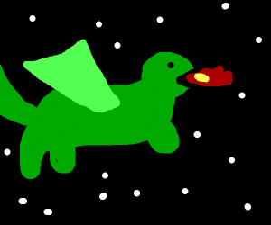 dragon in space(great drawing)