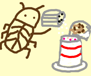 Cockroach salting Yogurt