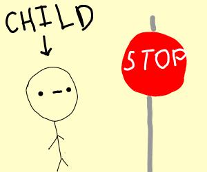 child stops