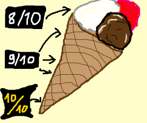 the cone is the best part of icecream