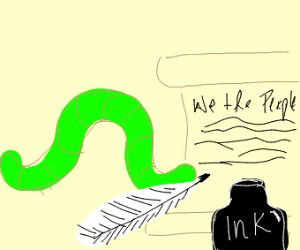 Inch worm writes a constitution