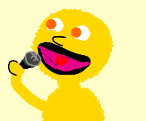 yellow elmo singing