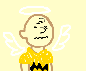 charlie brown angel with one eye