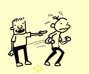 Rowley gives Greg da cheese touch!