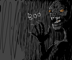 Monster in the dark says boo