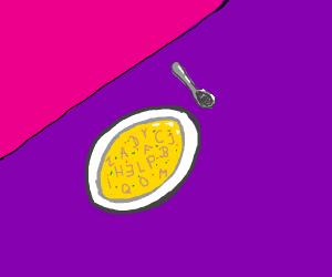 secret message in alphabet soup