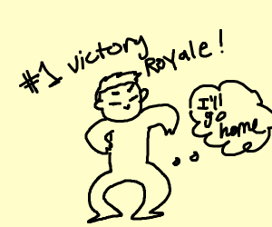 Boi with victory royale goes home