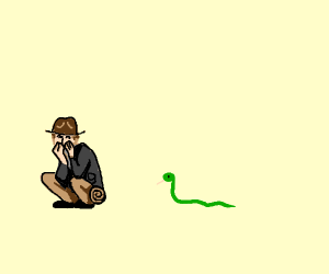 indy hates snakes