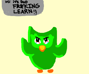 green owl demands people LEARN!