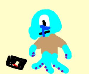 Squidward's Phone Dies